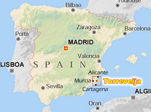 Карта торревьехи испания
